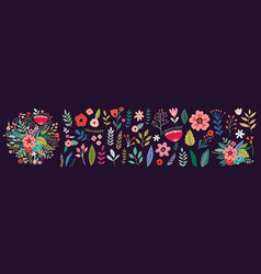 flower spring collection vector image