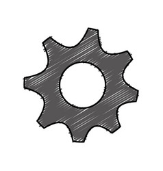 Gear wheels icon vector