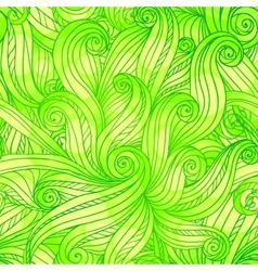 Green doodle abstract seamless pattern vector image