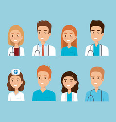 Healthcare medical staff characters vector