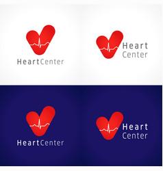 heart center logo vector image