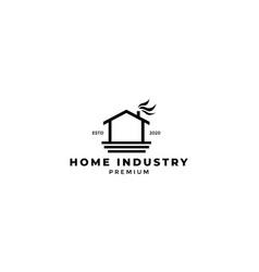 Home industry factory line modern logo design vector