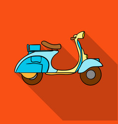 Italian scooter from italy icon in flat style vector