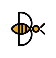 Letter b bee logo template vector