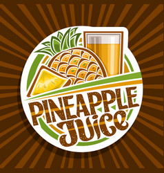 logo for pineapple juice vector image