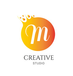 m letter logo design m icon colorful and modern vector image