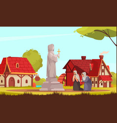 medieval people composition vector image
