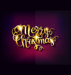 Merry christmas text vector