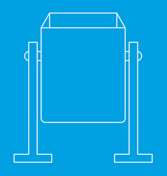 metal dust bin icon outline style vector image