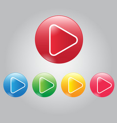 Modern button video play and audio vector
