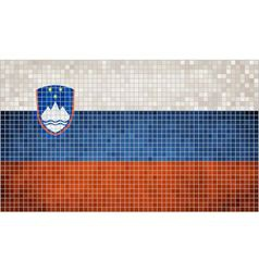 Mosaic flag of slovenia vector