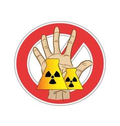 No nuclear power sign vector