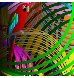Parrot in jungle vector