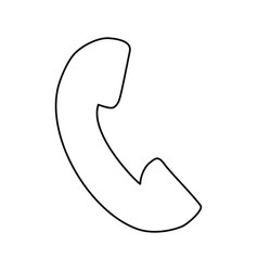 phone contact sign vector image