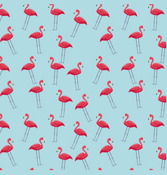 Pink flamingos background vector