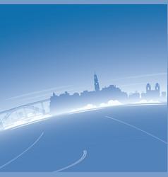 Porto skyline aerial view vector