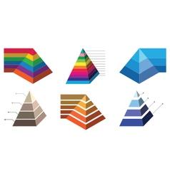 Pyramid chart 2 vector