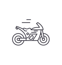 race bike line icon concept race bike vector image