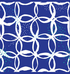 seamless pattern design with sketchy circles vector image