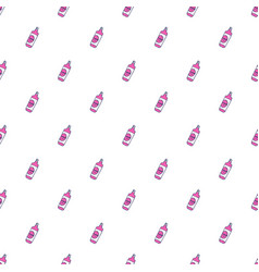 seamless pattern with hand drawn bottles and tubes vector image