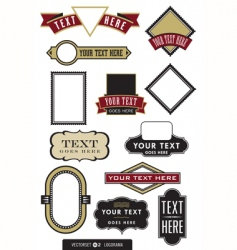 Set of 12 logo or label frames vector