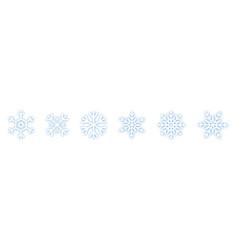 set of blue snowflakes icons black snowflake vector image