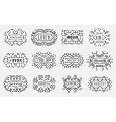 Set of luxury insignias logotypes template retro vector