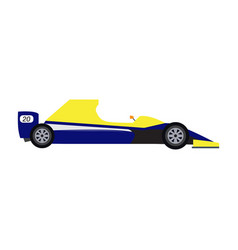 side view of a racing car vector image
