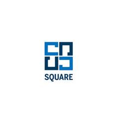 Simple clean square shape logo design template vector