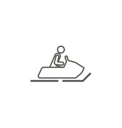 snow motorbike icon simple element from map and vector image
