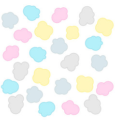 soft colorful clouds pattern background vector image