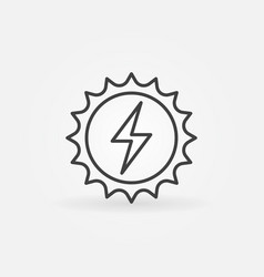 Solar energy concept icon vector