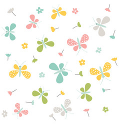 spring pattern seamless background vector image