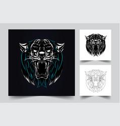tiger artwork vector image