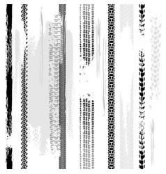 Tire tracks seamless pattern vector