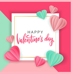 valentines day sale background with heart shape vector image