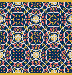 Vintage floor tiles ornament purple pattern vector