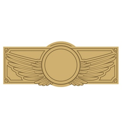 Vintage label with wings vector