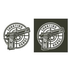 vintage military round print vector image