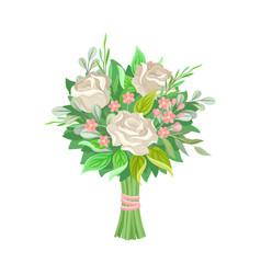 Wedding bunch flowers set vector