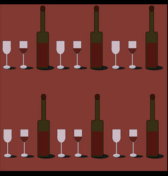wine pattern vector image
