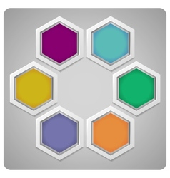 abstract frame made from hexagons vector image vector image