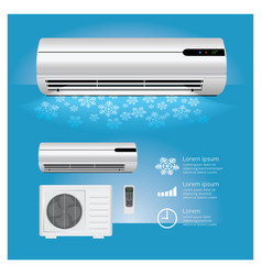 air conditioner realistic vector image
