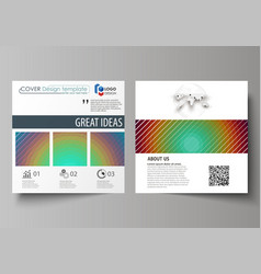 business templates for square design brochure vector image vector image