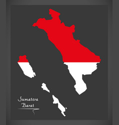 sumatera barat indonesia map with indonesian vector image
