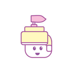 warrior head character to video game technology vector image