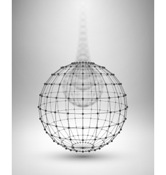Wireframe Globe Sphere with connected lines and vector image vector image
