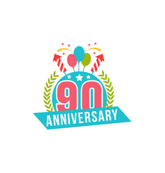 Anniversary ninety years number vector
