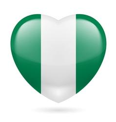 Heart icon of nigeria vector