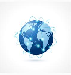 Network globe icon vector image